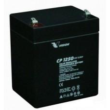 Аккумуляторная батарея Vision CP1250 (12 В 5 Ач,  клемма 6,35 мм)