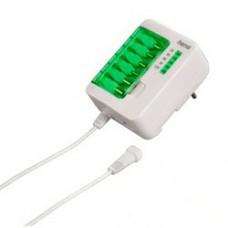 Универсальное зарядное устройство для MP3/MP4/навигаторов/камер и т.п., 6 разъемов, 1200 мА, белый