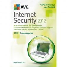 Антивирус AVG Internet Security 2012 3PC AVG Mob + Flash drive BOX
